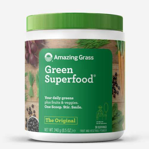 Amazing Grass Green Superfood: natürliche Mix aus Kräutern, Gemüse und Früchten mit Kulteren, Reich an Ballaststoffen, Vitaminen und Mineralstoffen, Vegan, ohne Zuckerzusatz - das Original