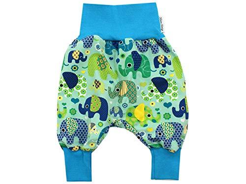 Kleine koningen pompbroek baby jongensbroek · model olifantenparty turquoise petroleum licht · Ökotex 100 gecertificeerd · maten 50-128