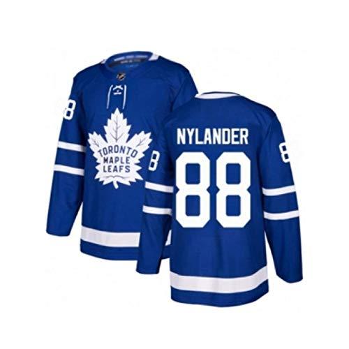 WANGP Herren Eishockey Trikots Toronto Maple Leafs 44 Rielly 88 Nylander Genähte Buchstaben Zahlen Langarm T-Shirt Atmungsaktive Sweatshirts,B88.-XX-Large