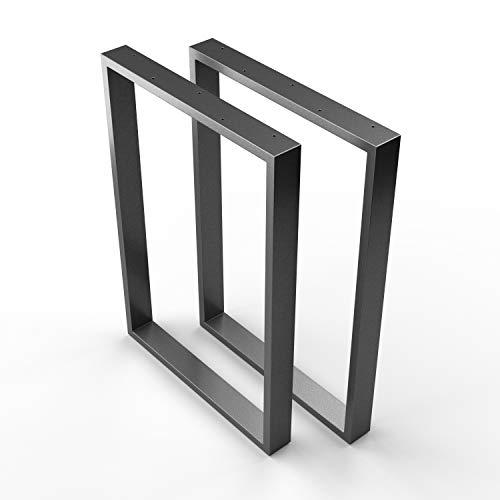 sossai® Stahl Tischkufen | ANTHRAZIT | 2 Stück | Tischgestell | Breite 70 cm x Höhe 72 cm | TKK1 | pulverbeschichtet