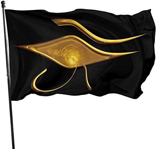 Gsixgoods Flagge 3x5 Ft Polyester Flag Egyptian Ibis Ankh Horus Eye - Vivid Color and UV Fade Resistant