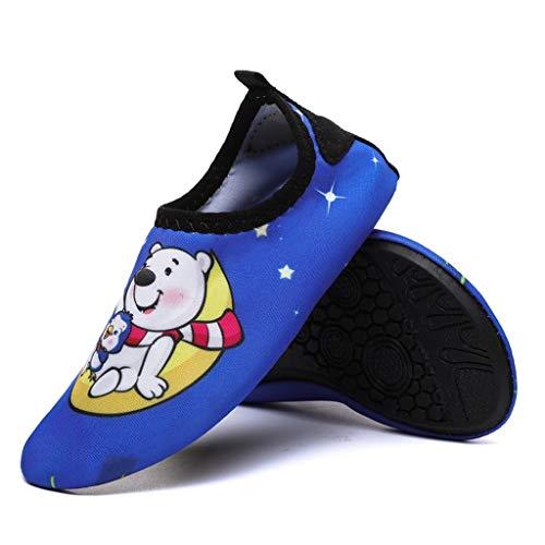 GDSSX Zapatos de Agua Descalzos Cómodos y de Secado rápido Calcetines de Agua Equipo de Viaje para Mujeres y niños Secado Rápido (Color : Color A, Size : 22-23EU)