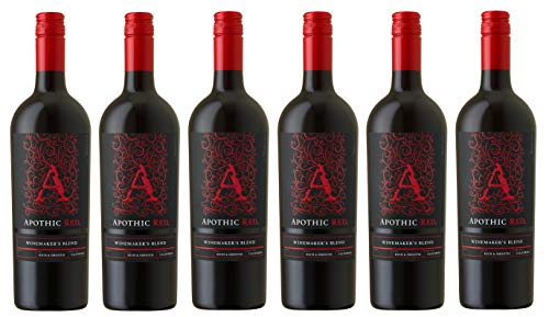 6x 0,75l - 2018er - Apothic Red - Winemaker's Blend - Kalifornien - Rotwein halbtrocken