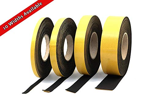 "Neoprene Rubber self adhesive strip 3/8"" wide x 1/16"" thick x 33 feet long Photo #2"
