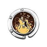 Guitarra eléctrica en Percha de Monedero Floral Perchas de Almacenamiento de Monedero portátil Diseños únicos Sección Plegable Bolsa de Almacenamiento Gancho de Percha para Mesa