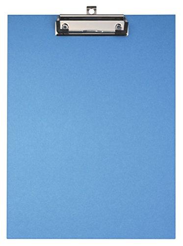 Original Falken Umwelt-Klemmbrett Öko. Made in Germany. Mit stabilem Pappkern und farbigem Papierbezug außen für DIN A4 blau Blauer Engel ideal für Inventur und Lagerwirtschaft