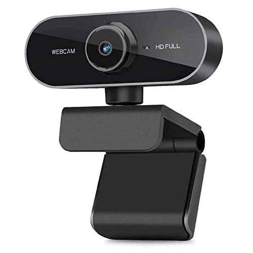 Merpin Webcam 1080P Full HD con Micrófono reducción de Ruido,Cámara Web USB Plug Play, Cámara Web para Videollamadas, Cámara Web Full HD 1080P USB Compatible con Windows, Mac y Android