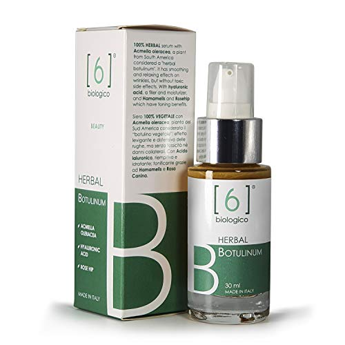 6BIOLOGICO Serum facial Herbal Botulinum y Ácido Hialurónico Rellena Arrugas Efecto Lifting Hidrata Tonifica 30ml