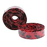 SALALIS Envoltura para Manillar de Bicicleta, Cinta para Manillar de Bicicleta EVA Duradera con Orificios pequeños Transpirables y absorbentes de Humedad para Accesorios de Bicicleta(Negro + Rojo)