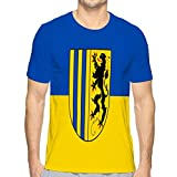 Casual Men's O-Neck T Shirt Short Sleeve Tee T-Shirts for Men Flag of Chemnitz in Saxony in Germany