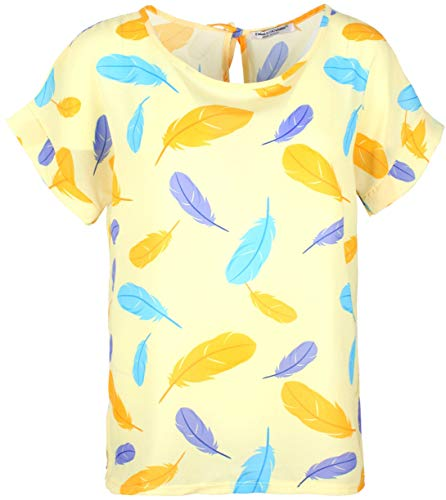 Emma & Giovanni - chiffon blouses T-shirt/bovenstuk oversize met korte mouwen zeilstof - dames