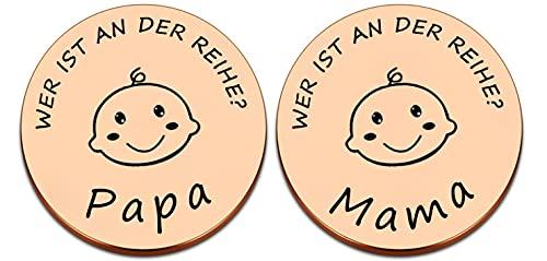 Baby Spielzeug Personalisierte Geschenke,Neue Papa Mama Geschenke Entscheidungsmünze,Taufgeschenke für mädchen jungen,Lustiges Neues Babygeschenk Neue Eltern Geschenk Schwangerschaftsgeschenk
