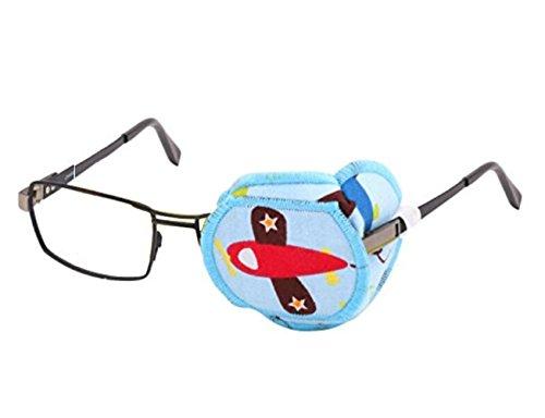 """Augenklappe aus reiner Baumwolle, wiederverwendbar, mit Cartoon-Motiv, Amblyopie-Augenklappe für Brillen, zur Behandlung von """"trägem Auge"""" und Strabismus 1 Stück"""