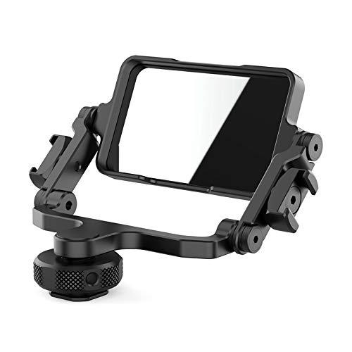 Ulanzi PT-14 カメラフリップミラーブラケット 360度回転 コールドシューズ付き 1/4インチネジ穴付き ミラーレスカメラ用 アクションカメラ用 スマートフォン用 自分撮り 動画ブログに対応