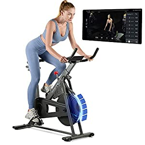 OVICX Bluetooth Stationary Exercise Bike Indoor Bike with App Indoor Cycle Bike Stationary Bike Magnetic Resistance…