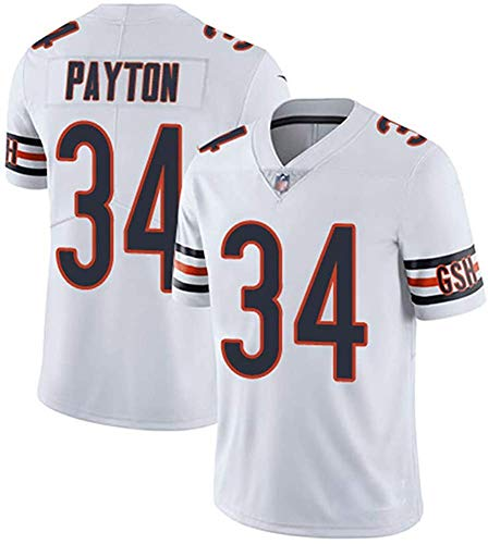 MMW Jerseys - Camiseta de rugby, diseño de los Chicago Bears, blanco, 3XL(195cm~210cm)