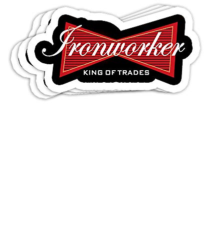 Ironworker Funny Ironworkers Union Gift Decorations - 4x3 Vinyl Stickers, Laptop Decal, Water Bottle Sticker (Set of 3)