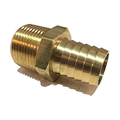 """EDGE INDUSTRIAL 1"""" Hose ID to 1"""" Male NPT MNPT Straight Brass Fitting Fuel / AIR / Water / Oil / Gas / WOG"""
