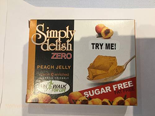 Simply Delish Zero Sugar Free Instant Peach Jelly, 8g