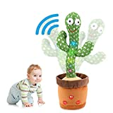 [Update Volume Adjustable] Dancing Cactus Toy, Singing, Talking, Record & Repeats What You say, Funny Electric Cactus Toy for Kids
