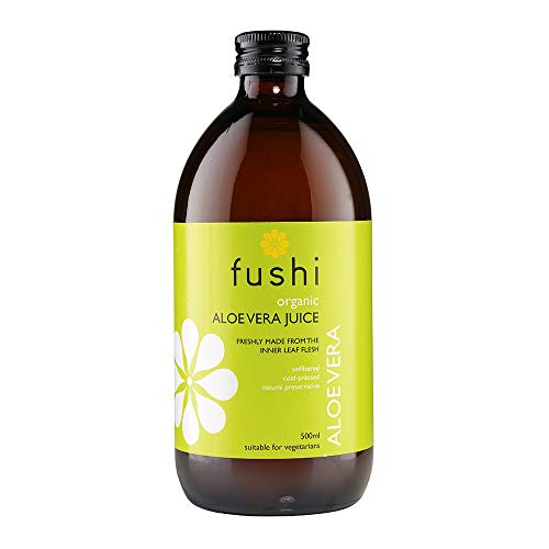 Fushi Organic Aloe Vera Juice 500 ml |min 1700 Polysaccharides|Cold-Pressed|Natural Preservative|Best for Digestion, Inner health|Ethical & Vegan Society Approved|Manufactured in the UK