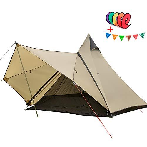 Carpas camping a prueba agua para familias 3-4 personas con puerta frontal, doble capa emergente, fácil de instalar, resistente a intemperie y amplio espacio para la caza al aire libre Senderismo