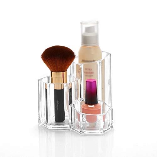 ZHAS Boîte de Rangement cosmétique Organisateurs de Maquillage Acrylique Pinceau cosmétique Organisateur Pinceaux de Maquillage Boîte de Rangement pour Rouge à lèvres Eyeliner Pencil Nail