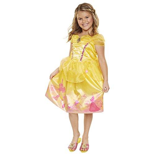 Disney Princess 4314 Belle Explore Your World Dress, Size: 4-6x, Yellow