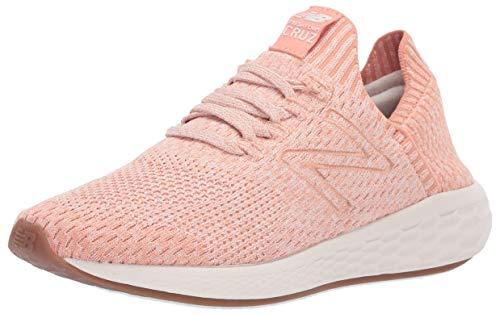 New Balance Damen Cruz Sock Fit V2 Fresh Foam Laufschuh, Grau (Phantom/verblasstes Kupfer/Pink Mist), 41 EU