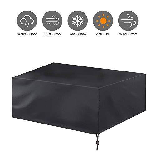 NINGWXQ Garden Sofa Cover Grote Patio Set Cover Waterdicht winddicht Cube Tuinmeubelen Covers, gemakkelijk op te vouwen, Zwart, Meerdere Maten (Color : Black, Size : 200×160×70cm)