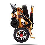 HAOT Folding Electric Wheelchair, Lightweight Wheelchair All Terrain Power Scooter Dual Motor Power Chair 12A...