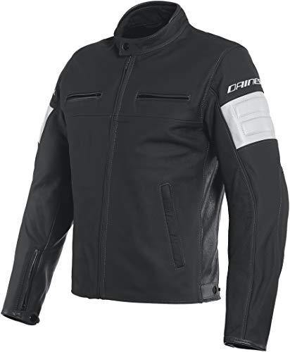 Dainese San Diego - Chaqueta de piel para moto, color negro 60