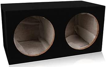 Belva Dual 12-inch Car Subwoofer Box Sealed 3/4-inch MDF Prelined Polyfil [MDFD12]