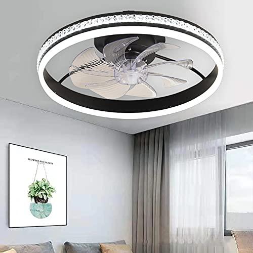 Ventilador De Techo LED Moderno con Luz Regulable con Ventilador Silencioso Control Remoto Y Temporizador Velocidad del Viento Ajustable Ventilador con Iluminación Invisible