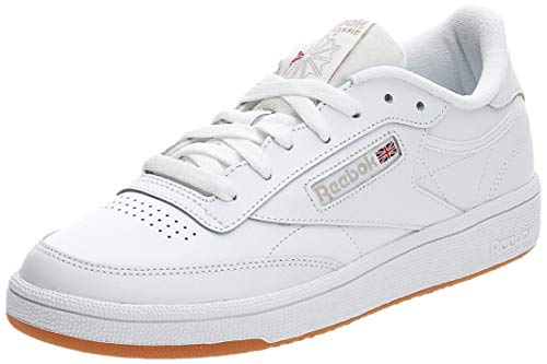Reebok Club C85 - Baskets Femme - Blanc (White/Light Grey/Gum) - 38 EU