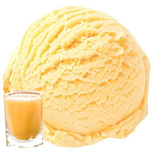 1 Kg Eierlikör Zabaione Geschmack Eispulver VEGAN - OHNE ZUCKER - LAKTOSEFREI - GLUTENFREI - FETTARM, auch für Diabetiker Milcheis Softeispulver Speiseeispulver Gino Gelati