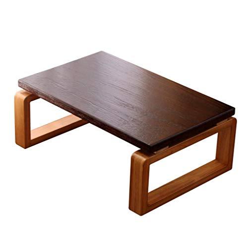 Tables étude de lit Salon Solide Basse en Bois Balcon Baie vitrée de cérémonie du thé Antique Basses (Color : Brown, Size : 70 * 45 * 30cm)