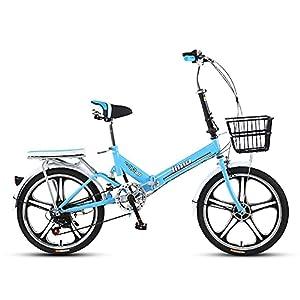 41e5LeXO9dS. SS300 DODOBD Bicicletta Pieghevole 20 Pollici, City Bike Pieghevole con 6 velocità Variabile, Telaio in Acciaio ad Alto Tenore di Carbonio Folding Bike Adatto per Adulti Bici da Città
