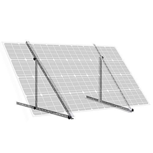 ECO-WORTHY 28 inch Adjustable Solar Panel Tilt Mount Mounting Rack Bracket Set Rack Folding Tilt Legs, Boat, RV, Roof Off Grid System (28'' Length)