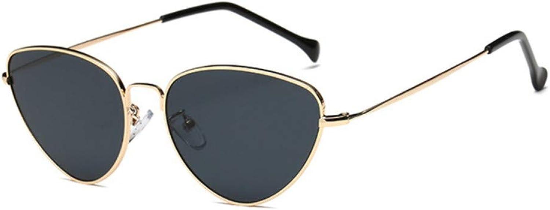 Fuqiuwei Sonnenbrillen Simple And Versatile Retro Sunglasses Female Small Face Glasses Triangle Sunglasses