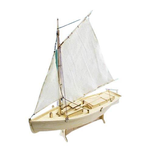 Hengqiyuan Montado en Madera Philette Sailing Boat Modeling Juguete Barco Barco Modelo Kit Sailing Boat Educational Wooden Sailing Boat Kit Hogar,Beige