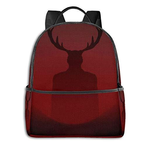 Hannibal Rucksack Unisexs Studententasche Klassische leichte Reißverschlussrucksäcke 14,5 x 12 x 5 Zoll