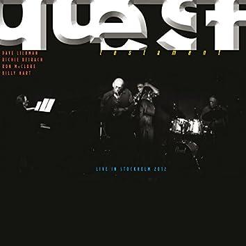 Quest - Testament - Live in Stockholm 2012