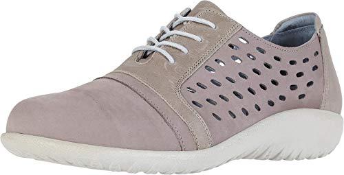 NAOT Women's Lalo Stone Nubuck/Khaki Beige Lthr Lace-up Shoe 5 M US