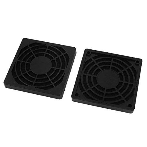 DyniLao 2 piezas a prueba de polvo protector de filtro de polvo cubierta de parrilla para ventilador de caja de PC de 80 mm