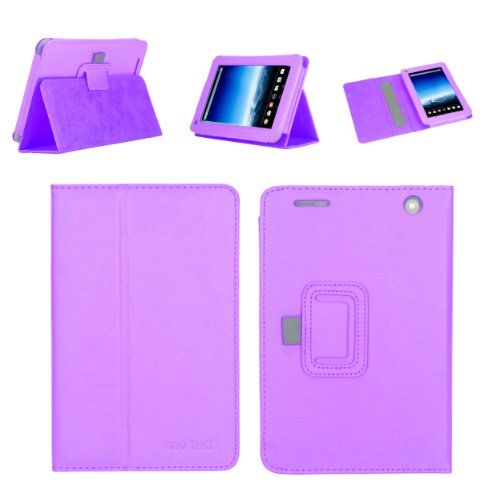 Navitech lilanes 7 Zoll bycast Leder flip Trage Case/Cover für das Medion Lifetab E7316 MD 98282