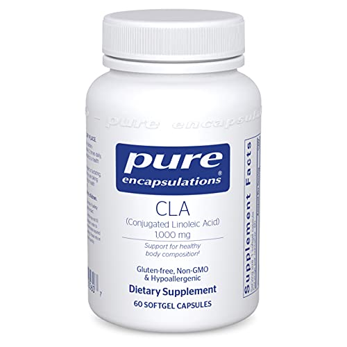 Pure Encapsulations - CLA (Conjugated Linoleic Acid) 1,000 mg - Promotes Healthy Body Composition with Healthy Diet and Exercise* - 60 Softgel Capsules