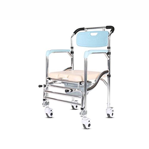 Ali Kommode Klappstuhl für Schwangere Frauen auf dem Toilettenstuhl mit beweglichen Toilettenriemenscheibe 70 * 50 * 90cm sitzen