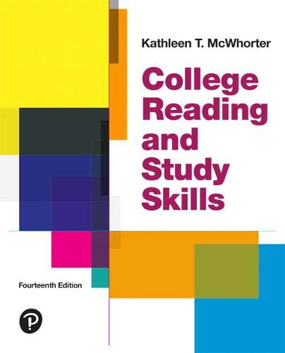Compare Textbook Prices for College Reading and Study Skills 14 Edition ISBN 9780134996295 by McWhorter, Kathleen T.,Sember, Brette M.