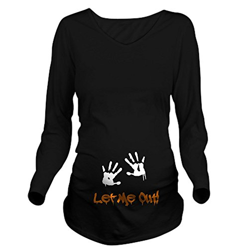 CafePress Let Me Out! Long Sleeve Maternity T Shirt Long...